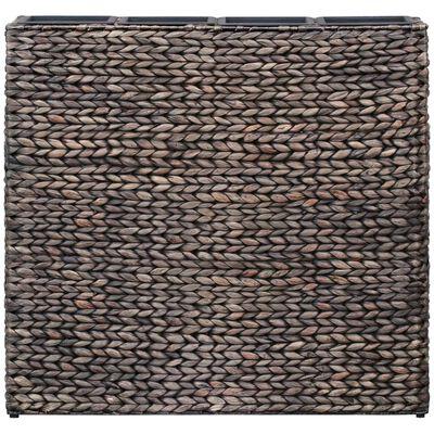 vidaXL Odlingslåda upphöjd med 4 krukor vattenhyacint brun