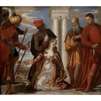 The Martyrdom of St. Justine,Paolo Veronese,60x50cm