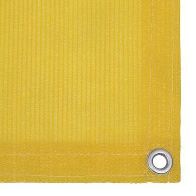 vidaXL Balkongskärm gul 75x400 cm HDPE