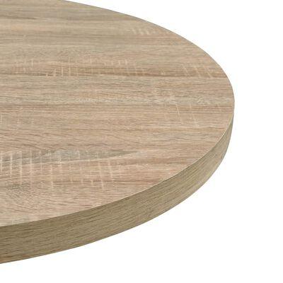 vidaXL Bistrobord MDF och stål rund 80x75 cm ekfärgad