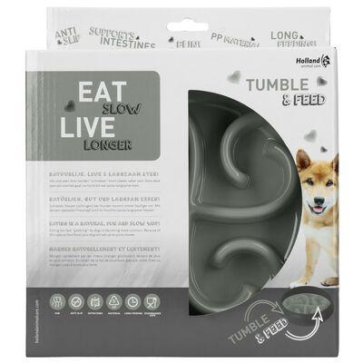 EAT SLOW LE LONGER Aktiveringsmatskål Tumble grå