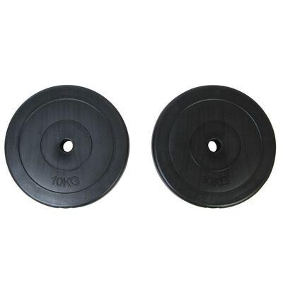 vidaXL Viktskivor 2 x 10 kg
