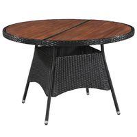 vidaXL Trädgårdsbord 115x74 cm konstrotting och massivt akaciaträ