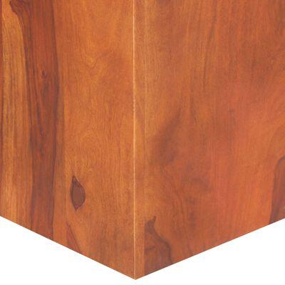vidaXL Matbord 120x120x77 cm massivt sheshamträ