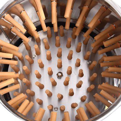 vidaXL Plockningsmaskin rostfritt stål 123 plockfingrar 1500 W