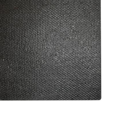 vidaXL Dörrmattor 2 st kokosfiber 17 mm 50x80 cm svart