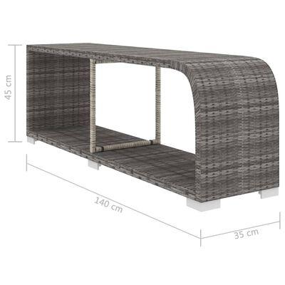 vidaXL Loungegrupp för trädgården med dynor 8 delar konstrotting grå, Grå