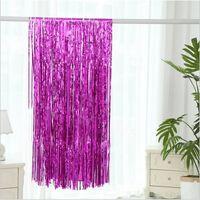 Festlig glittergardin 1x2 meter - rosa