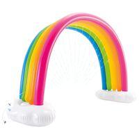 Intex Vattenspridare regnbåge flerfärgad 300x109x180 cm