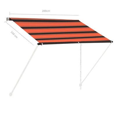 vidaXL Markis 200x150 cm orange och brun