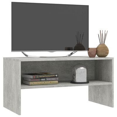 vidaXL TV-bänk betonggrå 80x40x40 cm spånskiva