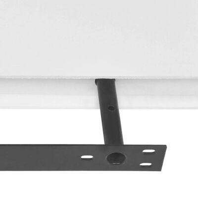 2 Flytande vägghyllor i MDF 120x20x3,8 cm vit