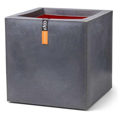 Capi Blomkruka Urban Smooth fyrkantig 40x40x40 cm mörkgrå
