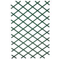 Nature Trädgårdsspaljéer 2 st 100x200 cm PVC grön