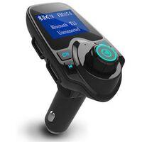 Fm-sändare Med Bluetooth-handsfree, Usb-port, Blå (t11)