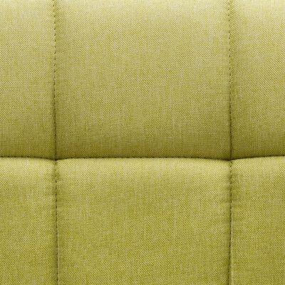 vidaXL Snurrbara matstolar 2 st grön tyg