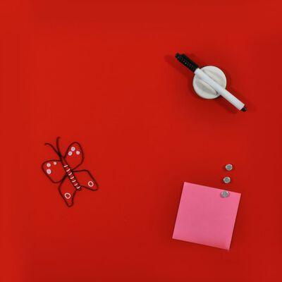 DESQ Magnetisk glastavla 45x45 cm röd