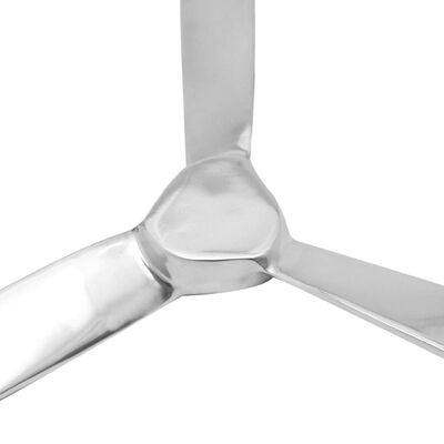 vidaXL Väggmonterad propeller aluminium silver 70 cm