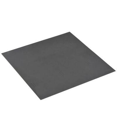 vidaXL Självhäftande PVC-golvplankor 5,11 m² grå strimmor