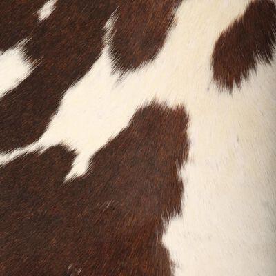 vidaXL Fladdermusfåtölj brun och vit äkta getskinn