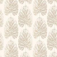 Evergreen Tapet Monstera Leaves vit och beige