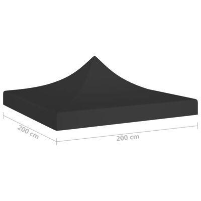 vidaXL Tak till partytält 2x2 m svart 270 g/m²