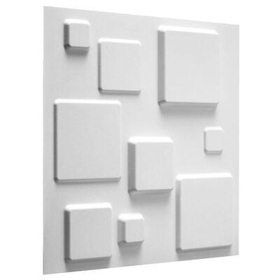 WallArt Väggpanel 3D Squares 12 st GA-WA09