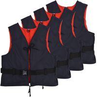 vidaXL Räddningsvästar 4 st 50 N 70-90 kg marinblå