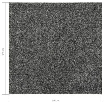 vidaXL Golvmattor 20 st 5 m² mörkgrå