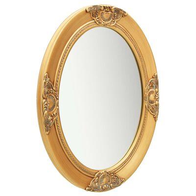 vidaXL Väggspegel barockstil 50x70 cm guld