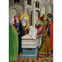 The Presentation in the Temple,master of saint gilles,50x36cm
