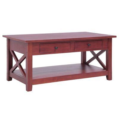 vidaXL Soffbord brun 100x55x46 cm massivt mahognyträ