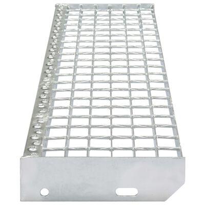 vidaXL Trappsteg 4 st smidessvetsade galvaniserat stål 800x240 mm