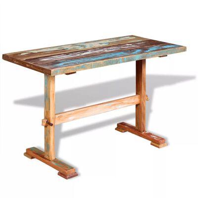 vidaXL Piedestalbord massivt återvunnet trä 120x58x78 cm