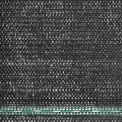 vidaXL Vindskydd för tennisplan HDPE 1,4x50 m svart