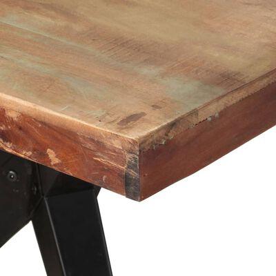 vidaXL Matbord 200x90x76 cm massivt återvunnet trä