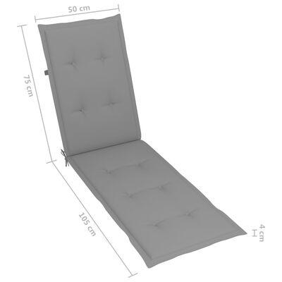 vidaXL Solsängsdyna grå (75+105)x50x4 cm