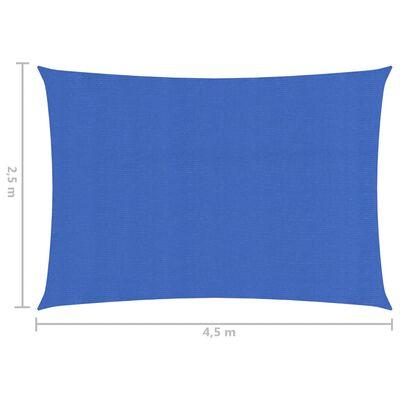 vidaXL Solsegel 160 g/m² blå 2,5x4,5 m HDPE