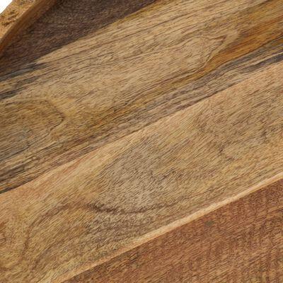 vidaXL Soffbord massivt mangoträ och stål 50x40 cm