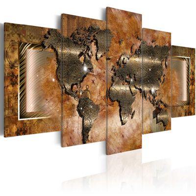Tavla - Steel Map - 100x50 Cm