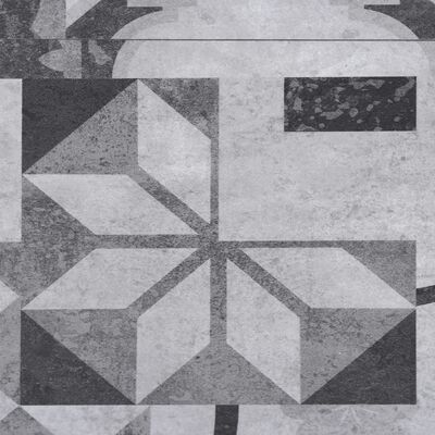 vidaXL Golvbrädor i PVC 5,26 m² 2 mm grå mönster