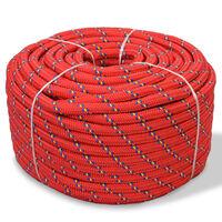 vidaXL Båtlina i polypropylen 10 mm 50 m red