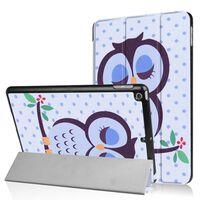 """iPad 9.7"""" (2017) Slim fit tri-fold fodral - Napping Owl"""