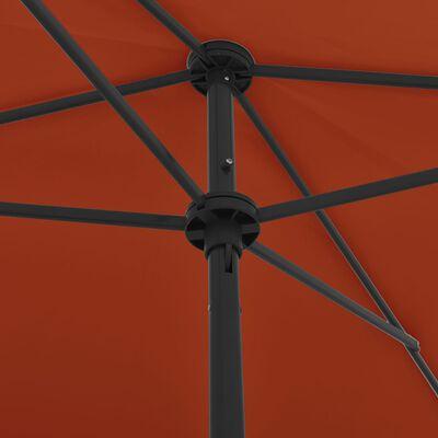 vidaXL Strandparasoll terrakotta 200x125 cm
