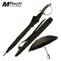 Keep Dry In Style - MTech Umbrella with saber sword handle