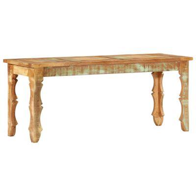 vidaXL Bänk 110x35x45 cm massivt återvunnet trä