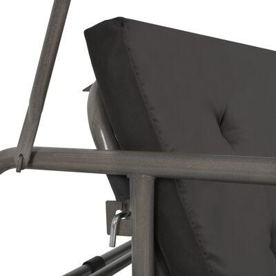 vidaXL Hammock med tak antracit 192x118x175 cm stål, Antracit