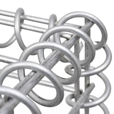 vidaXL Spiraler till gabion 24 st galvaniserat stål 100 cm