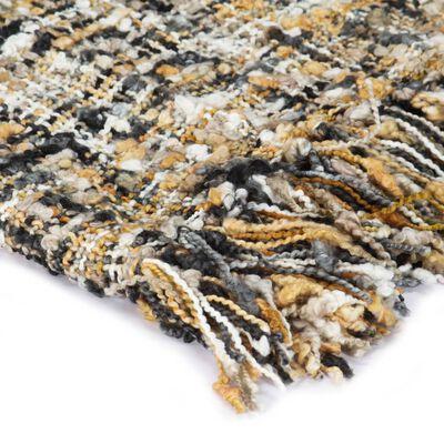 vidaXL Filt 160x210 cm svart/beige/vit