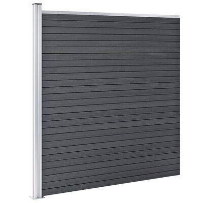 vidaXL Staketpanel WPC 526x186 cm grå